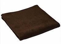 Махровое полотенце коричневое 70х140 см