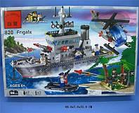 Конструктор Brick 820 Военный корабль, фрегат