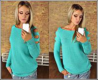 Женская модная кофта с разрезами на рукавах (5 цветов)