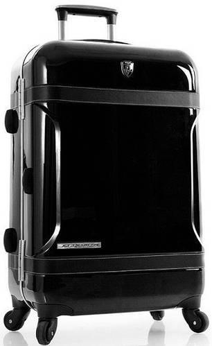 Классический пластиковый 4-колесный чемодан 70 л. Heys Attitude (M) Black 922980, черный