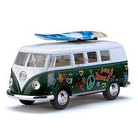Машинка металлическая KINSMART KT 5060 WFS VW CLASSICAL BUS 1962 & SURFBOARD