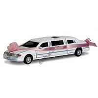 Машинка металлическая KINSMART KT 7001 WW LOVE LIMOUSINE WEDDING WHITE
