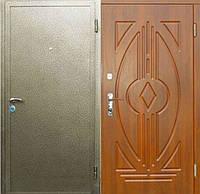 Практика-1 (молотковая покраска 2,0мм + МДФ + 1 замок). Входные металлические двери