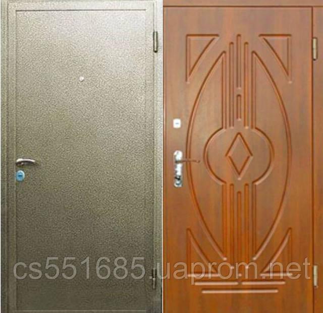 Практика-С2 (молотковая покраска 2,0мм + МДФ + 2 замка). Входные металлические двери