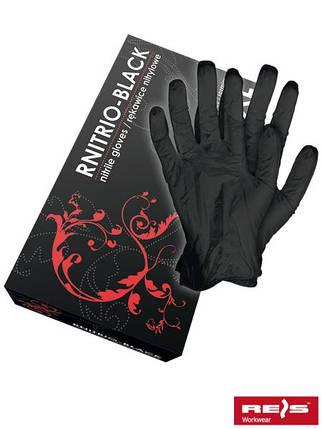 Перчатки нитриловые RNITRIO-BLACK, фото 2