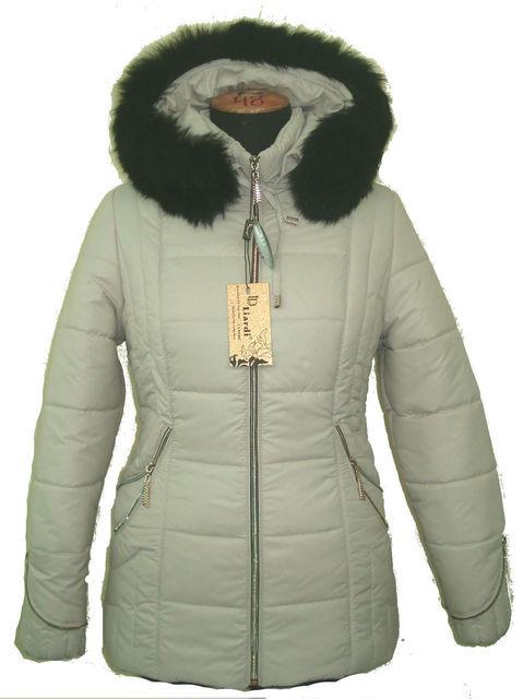 Жеская зимняя куртка с черным мехом