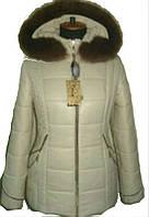 Жеская зимняя куртка с коричневым мехом