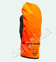 Рукавицы утеплённые Doloni комбин. кожа+оранж. ткань