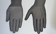 Перчатки стрейчевые с ПВХ точкой (женские)