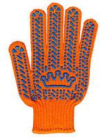 Перчатки рабочие с ПВХ Корона (оранжевые)