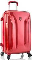 Небольшой пластиковый 4-колесный чемодан 34 л. Heys Astra Deep Space (S) Burgundy 923078, красный