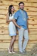 Парные вышиванки для влюбленных женское платье и мужская рубашка