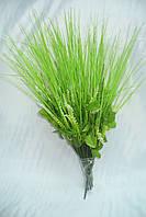 Ножка букетная на 10 голов зеленая травка, 40 см