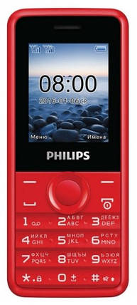 Мобильный телефон PHILIPS E103 Xenium Red, фото 2