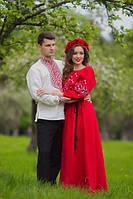 Комплект вышиванок - мужская рубашка и женское платье