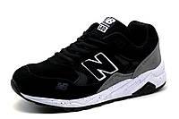 Кроссовки New Balance 580, мужские, замша, черные с серым, р. 41 42 46