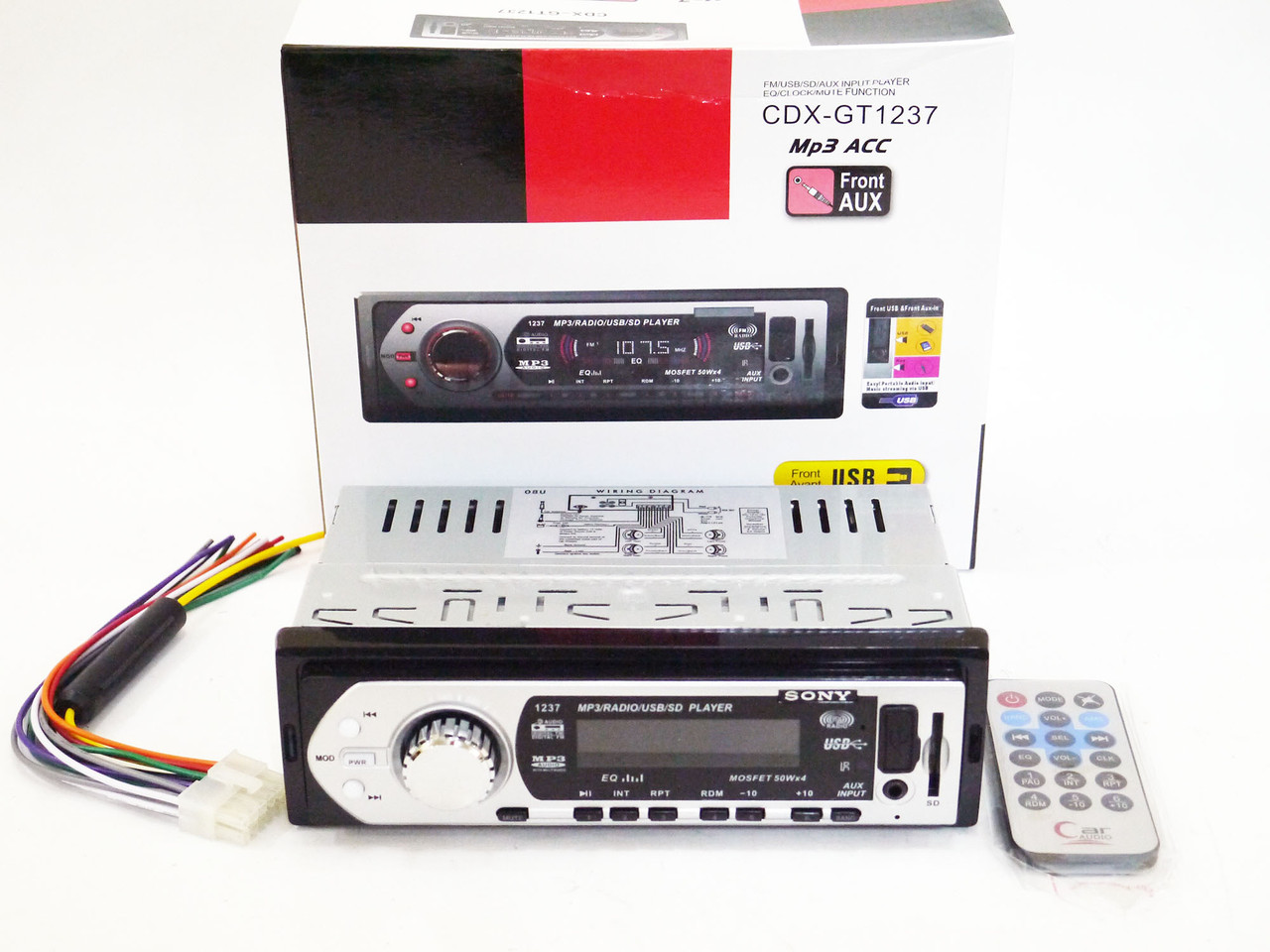 Автомагнитола Sony CDX-GT1237 USB+SD+FM+AUX+ пульт (4x50W)