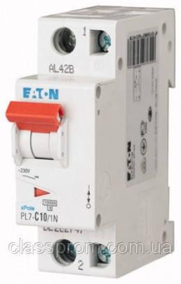 Автоматичний вимикач 1-полюс. PL7-C1/1 EATON