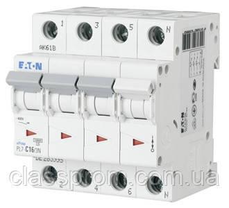 Автоматичний вимикач 3+N-полюс. PL7-C10/3N EATON