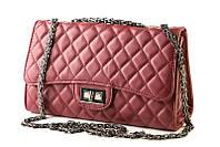 Классическая сумка, копия Chanel бордовая