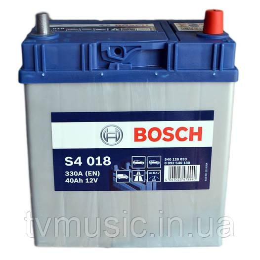Аккумулятор Bosch S4 018 Silver 40Ah 12V (0092S40180)