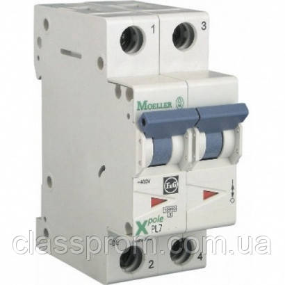 Автоматический выключатель 2-полюс. PL7-D13/2 EATON