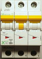 Автоматичний вимикач 3-полюс. PL7-D16/3 EATON, фото 1
