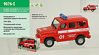 Машина батар 9076-E Пожарная охрана, звук, свет, в коробке 21-11-11см