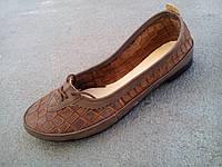 Балетки туфли женские замшевые коричневые 35 - 41 р