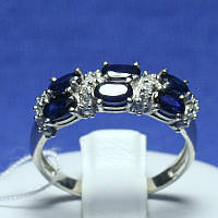 Серебряное кольцо с сапфиром и фианитом Фиолент 1632/9р