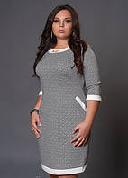 Стильное женское батальное платье