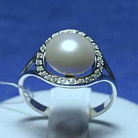 Серебряное кольцо с жемчужиной 1688, фото 1