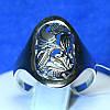 Серебряное кольцо с орнаментом Цветы 11083