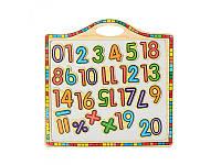 Деревянная игрушка магнитная доска с цифрами
