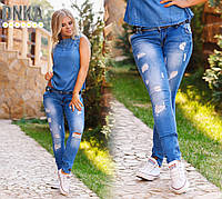 Женские стильные джинсы слимы с поясом от 26 р. до 31 р.
