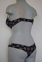 Темный комплект женского белья, фото 2