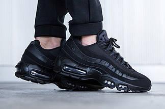 Женские и мужские кроссовки Nike Air Max 95 Triple Black, фото 3