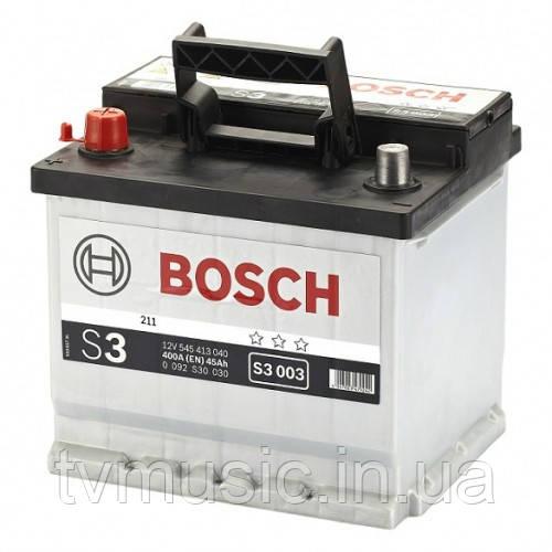 Аккумулятор Bosch S3 002 Silver 45Ah 12V (0092S30020)