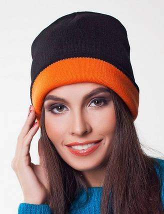 Женская вязаная шапка , фото 2