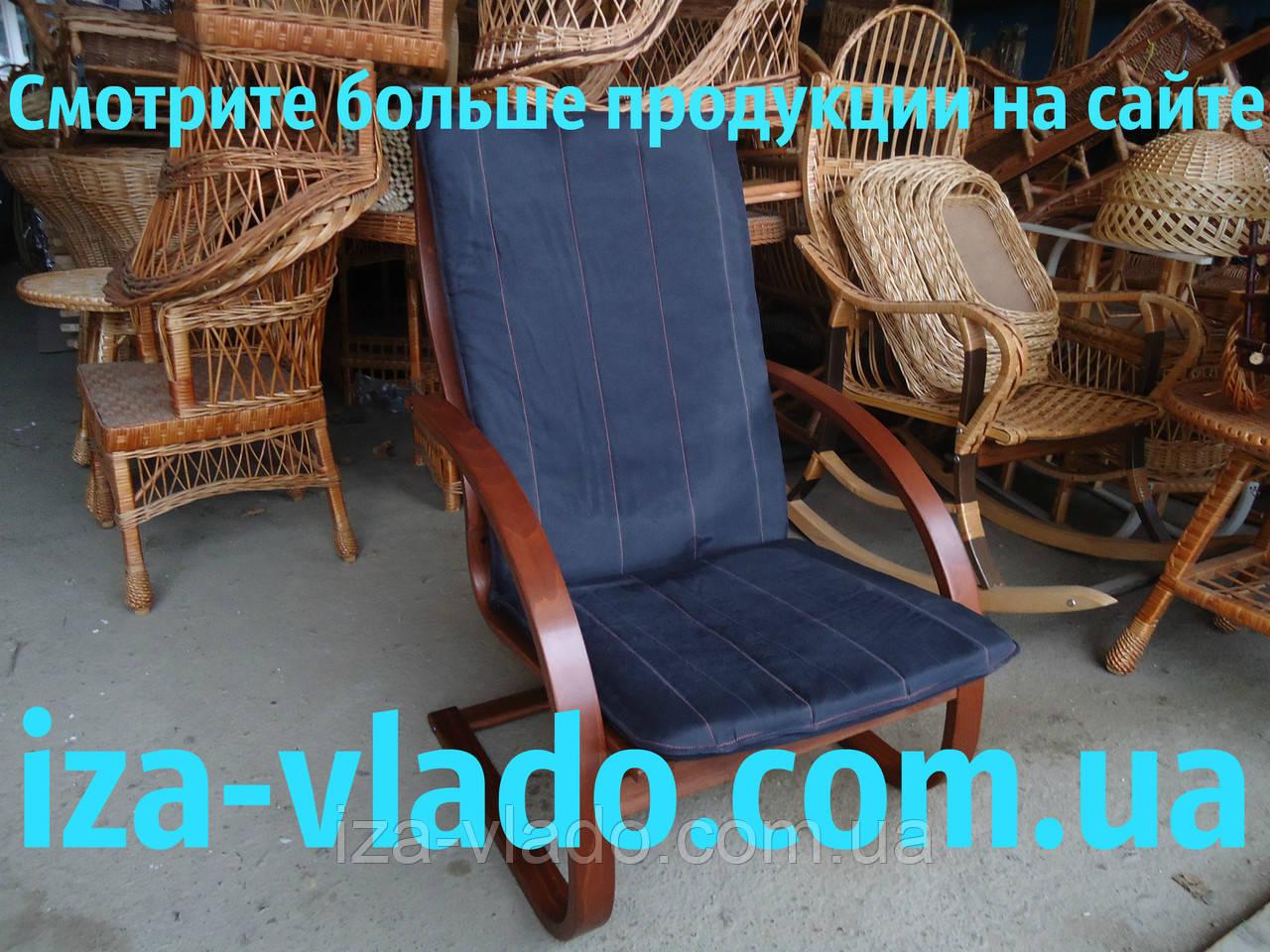 Крісло-жаба (пружина) з овальними підлокітниками