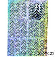Трафареты для маникюра на липкой основе STZ-K23