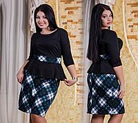 Платье женское с баской р.50,52,54,56