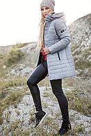 Стильное молодежное зимнее пальто пуховик. Полупальто