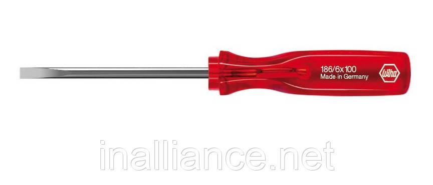 Шлицевая отвертка SL 8,0 х 150 мм круглое жало Classic Wiha 00231