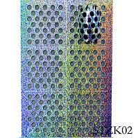 Трафареты для маникюра на липкой основе STZ-K02