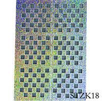 Трафареты для маникюра на липкой основе STZ-K18