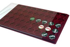 Планшет для монет или крышечек,45 ячеек, 29 мм