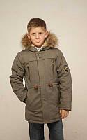 Теплая удлиненная зимняя куртка для подростков