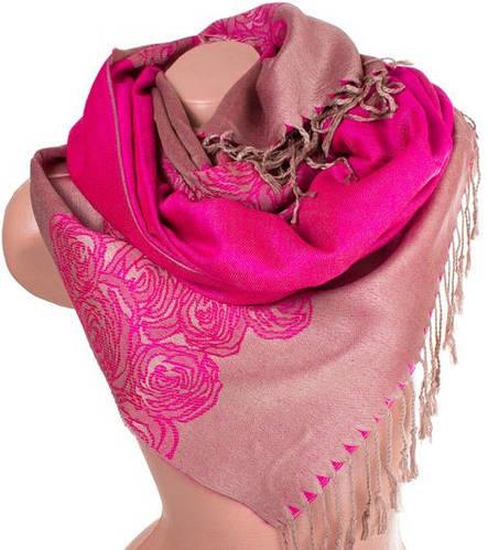 Благородный женский двусторонний палантин из пашмины 176 на 71 см ETERNO ES0406-10-12 розовый