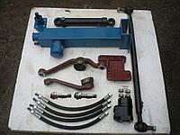 Комплект переоборудования рулевого управления МТЗ-80 под насос дозатор с чугунным рулевым кронштейном с гидроб, фото 1